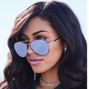 "Quay Australia ""Single"" mirrored aviator shades"